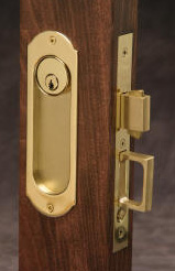 keyed pocket door locks