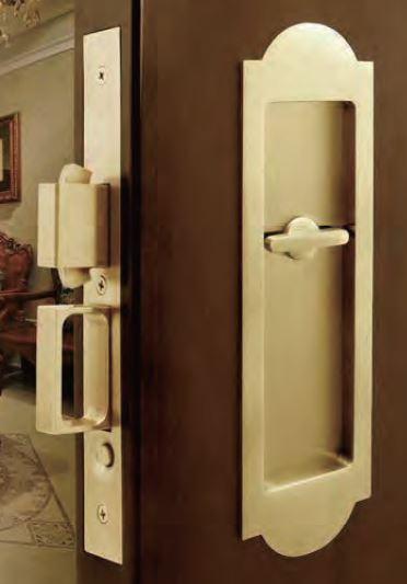 Antique Brass Pocket Door Hardware