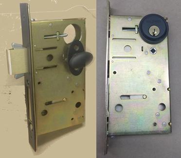 Barn door hardware privacy locks - Interior door privacy mortise lock ...