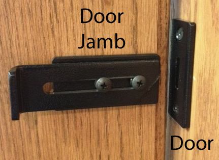 Slide Latch Attaches To Jamb And Strike Is Attached The Door