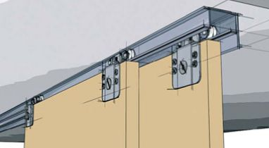 and for hide away walls. Ball bearing rollers offer smooth rolling and  Smart rollers sort the doors for easy door Stacking