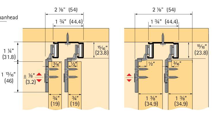quick adjust height - Bypass Barn Door Hardware
