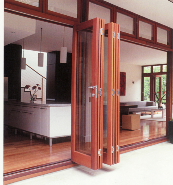 Barn door hardware from hanging door for Exterior multi track sliding doors