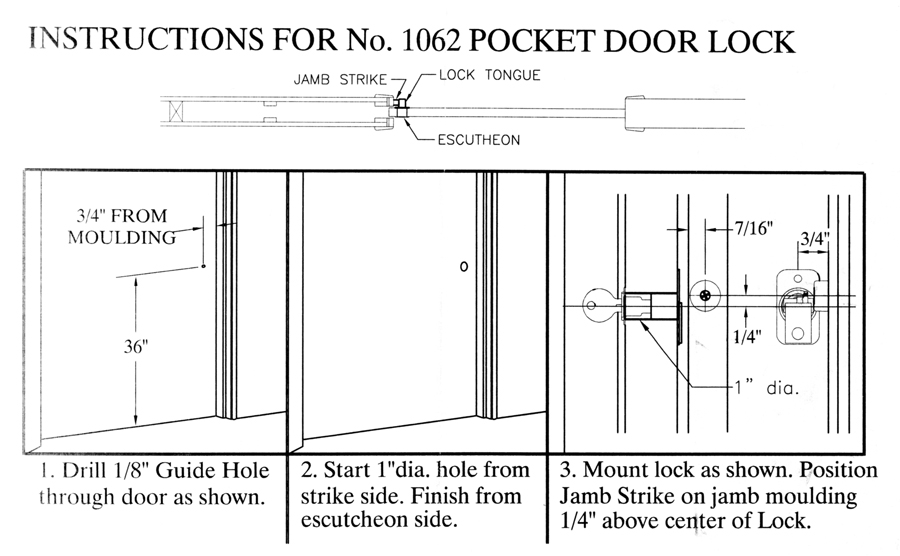 instruction sheets page1 page2  sc 1 st  Barn Door Hardware from Hanging door hardware.com & Keyed locks for pocket and bifolding doors pezcame.com