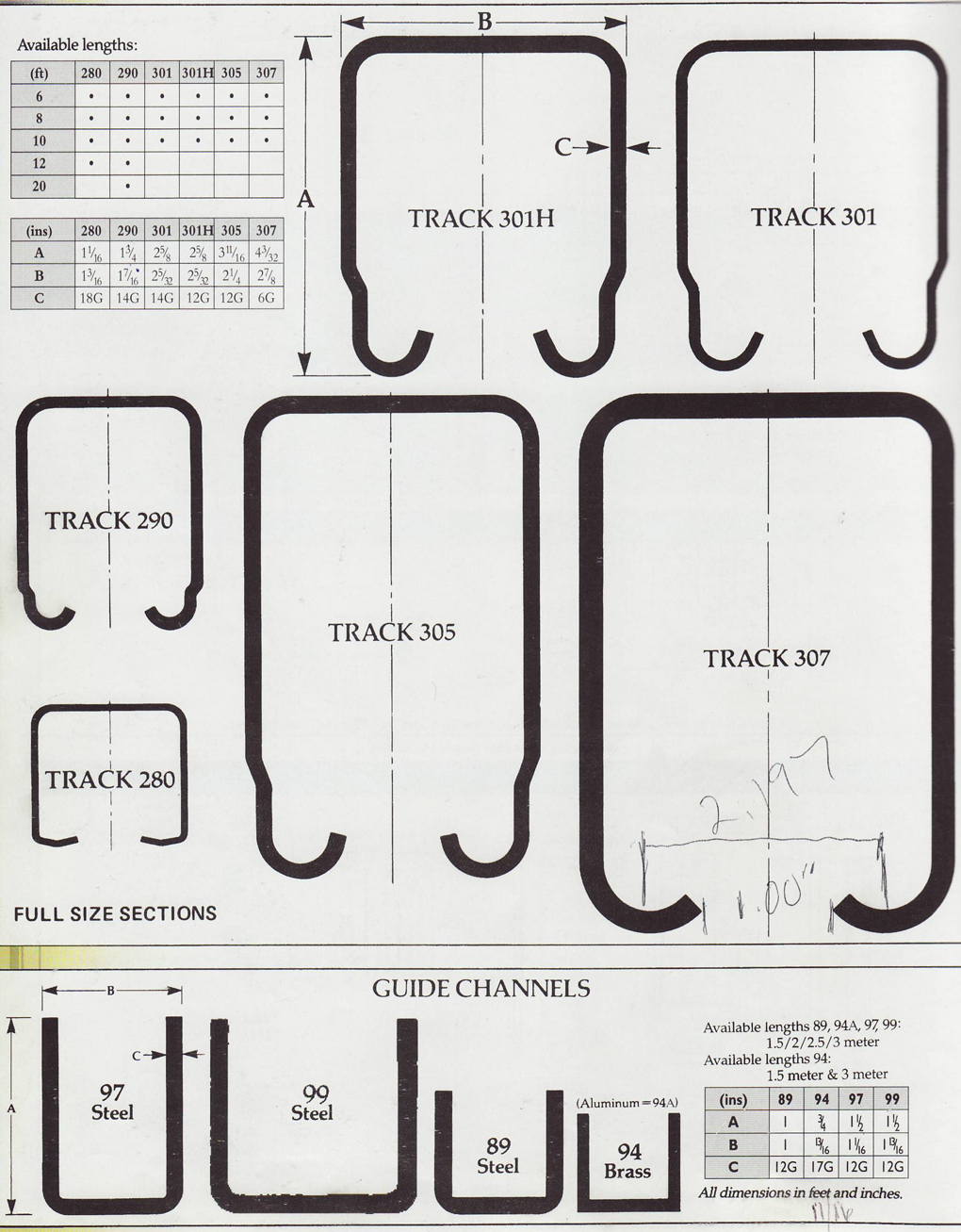 Pchenderson Industrial Door Galvanized Track And Rollers