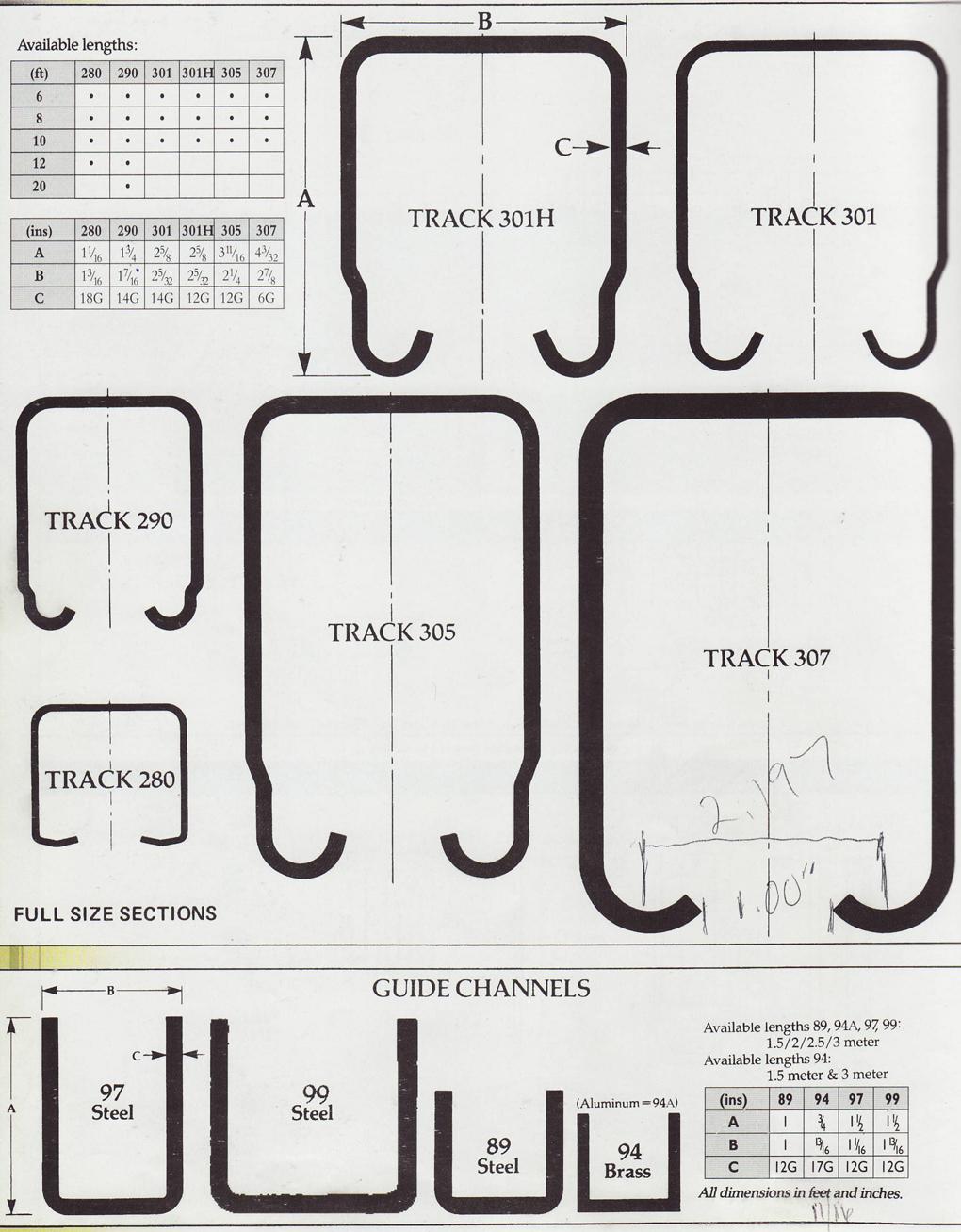PcHenderson Industrial Door track for sliding doors