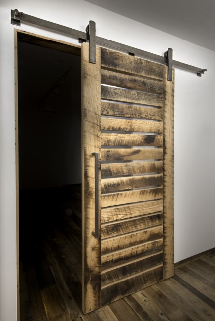 Barn door hardware kits from designer finishes custom for Custom barn door kits