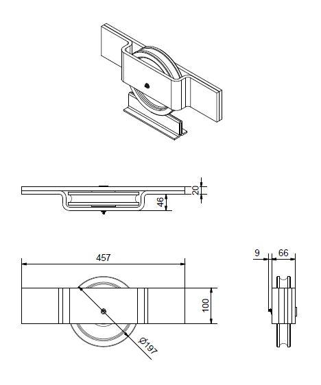 heavy duty nylon sliding door guide