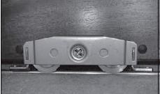 Door bottom rollers