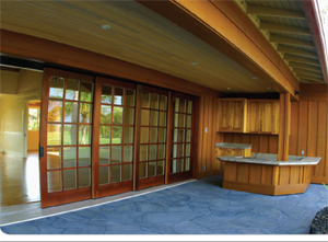 Exterior sliding door kits