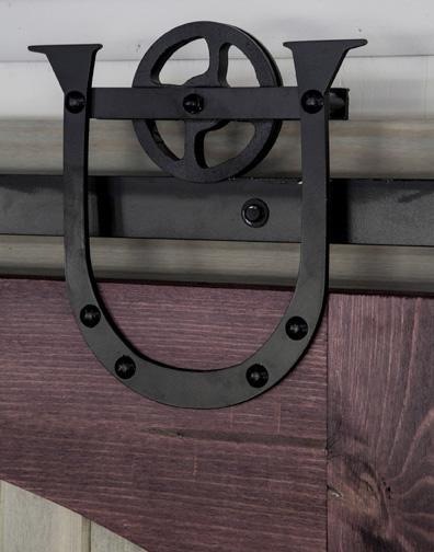 Straight Spoked Barn Door Kit $ 500.00, Horseshoe Spoked Roller ...